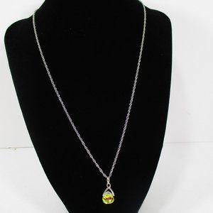 Crystal AB Briolette Drop Necklace NWOT